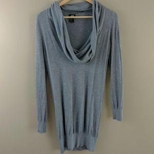 H&M Cowl Neck Long Sleeve Tunic Sweater